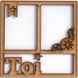 Cadre 15 x 15 cm TOI ENGRENAGES par In Spirit. Scrapbooking et loisirs créatifs. Livraison rapide et cadeau dans chaque comma...
