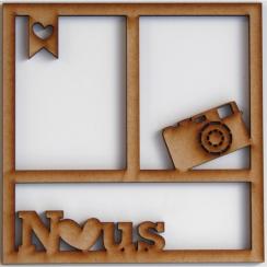 Cadre 15 x 15 cm NOUS par In Spirit. Scrapbooking et loisirs créatifs. Livraison rapide et cadeau dans chaque commande.
