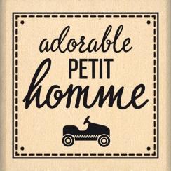 Tampon bois ADORABLE PETIT HOMME - Capsule Janvier par Florilèges Design. Scrapbooking et loisirs créatifs. Livraison rapide ...