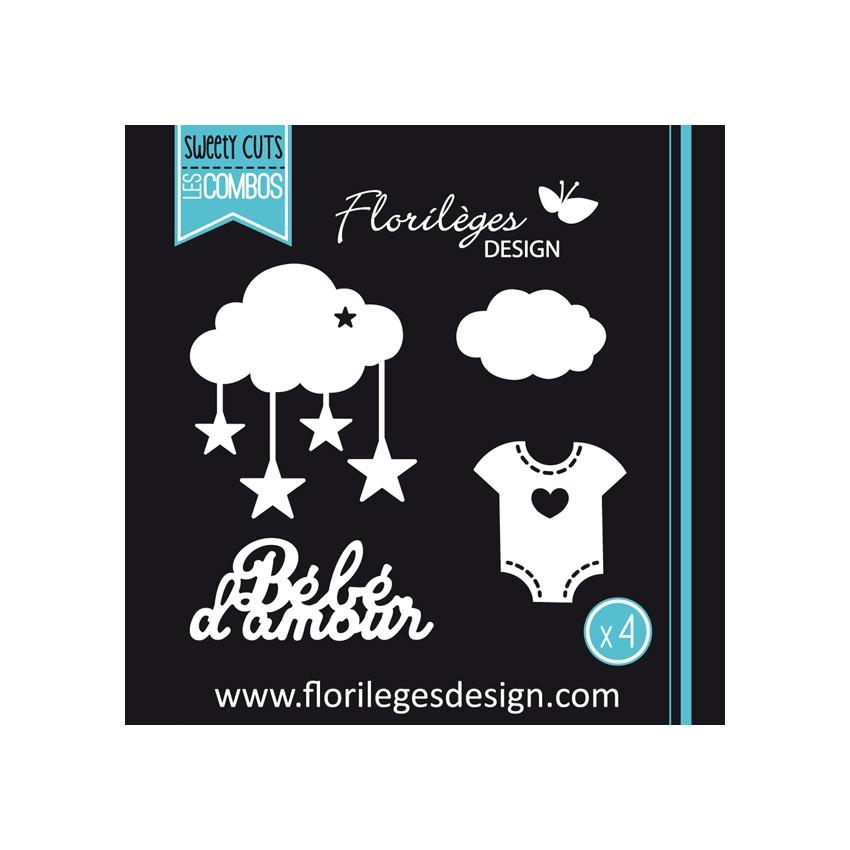 Outils de découpe BÉBÉ D'AMOUR-capsule janvier par Florilèges Design. Scrapbooking et loisirs créatifs. Livraison rapide et c...