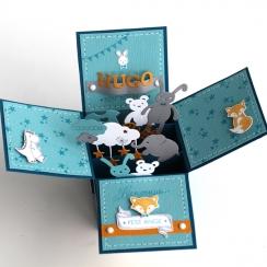 Outils de découpe LES DOUDOUS-capsule janvier par Florilèges Design. Scrapbooking et loisirs créatifs. Livraison rapide et ca...