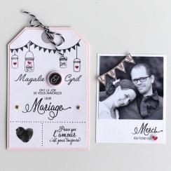 Parfait pour créer : Tampons clear NOTRE MARIAGE par Florilèges Design. Livraison rapide et cadeau dans chaque commande.