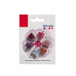 Mini Brads assortiment rouge