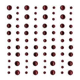 Demi perles nacrées rouges par Artemio. Scrapbooking et loisirs créatifs. Livraison rapide et cadeau dans chaque commande.