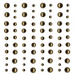 Demi perles nacrées or