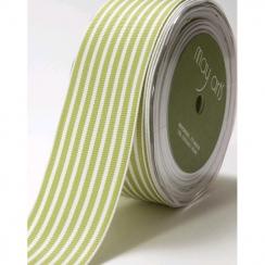 Parfait pour créer : Ruban gros grain rayé VERT 3.8 cm par May Arts. Livraison rapide et cadeau dans chaque commande.