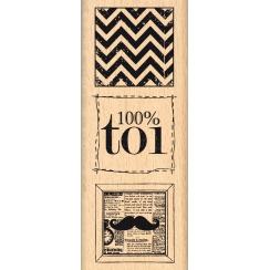 Tampon bois 100% TOI