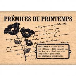 Tampon bois PRÉMICES DU PRINTEMPS