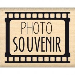 Tampon bois PHOTO SOUVENIR