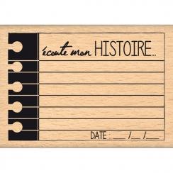 Tampon bois ÉCOUTE MON HISTOIRE