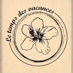 Tampon bois LE TEMPS DES VACANCES