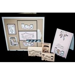 Tampon bois PETITS POTS D'AMOUR par Florilèges Design. Scrapbooking et loisirs créatifs. Livraison rapide et cadeau dans chaq...
