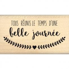Tampon bois TOUS RÉUNIS par Florilèges Design. Scrapbooking et loisirs créatifs. Livraison rapide et cadeau dans chaque comma...