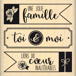 PROMO de -99.99% sur Tampon bois TRIO DE TAGS Florilèges Design
