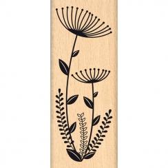 Tampon bois FLEURS EN DUO par Florilèges Design. Scrapbooking et loisirs créatifs. Livraison rapide et cadeau dans chaque com...