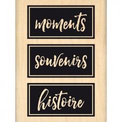 Tampon bois HISTOIRE ET SOUVENIRS par Florilèges Design. Scrapbooking et loisirs créatifs. Livraison rapide et cadeau dans ch...