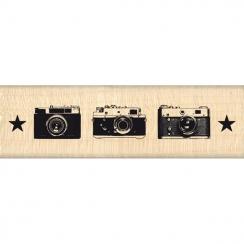 Tampon bois TRIO PHOTOS par Florilèges Design. Scrapbooking et loisirs créatifs. Livraison rapide et cadeau dans chaque comma...