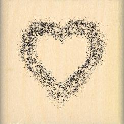 Tampon bois BRUME DE CŒUR par Florilèges Design. Scrapbooking et loisirs créatifs. Livraison rapide et cadeau dans chaque com...