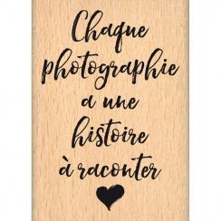 Tampon bois HISTOIRE DE PHOTO par Florilèges Design. Scrapbooking et loisirs créatifs. Livraison rapide et cadeau dans chaque...