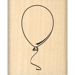 Tampon bois BALLON BLANC par Florilèges Design. Scrapbooking et loisirs créatifs. Livraison rapide et cadeau dans chaque comm...