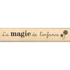 Tampon bois MAGIE DE L'ENFANCE par Florilèges Design. Scrapbooking et loisirs créatifs. Livraison rapide et cadeau dans chaqu...