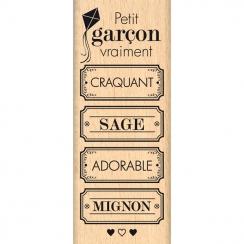 Tampon bois VRAIMENT CRAQUANT par Florilèges Design. Scrapbooking et loisirs créatifs. Livraison rapide et cadeau dans chaque...