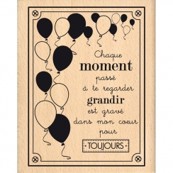 Tampon bois GRAVÉ DANS MON CŒUR par Florilèges Design. Scrapbooking et loisirs créatifs. Livraison rapide et cadeau dans chaq...