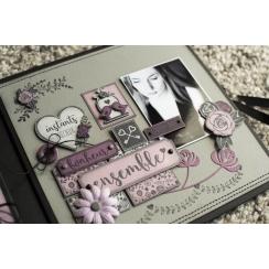 Tampon bois ROSE BLANCHE par Florilèges Design. Scrapbooking et loisirs créatifs. Livraison rapide et cadeau dans chaque comm...