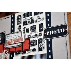 Tampon bois FOND PHOTOGRAPHIQUE par Florilèges Design. Scrapbooking et loisirs créatifs. Livraison rapide et cadeau dans chaq...