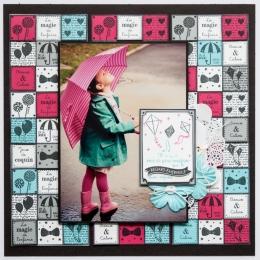 Tampon bois DE LA JOIE DANS L'AIR par Florilèges Design. Scrapbooking et loisirs créatifs. Livraison rapide et cadeau dans ch...
