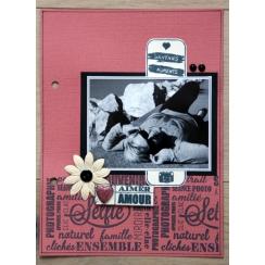 Tampon bois POSE SELFIE par Florilèges Design. Scrapbooking et loisirs créatifs. Livraison rapide et cadeau dans chaque comma...