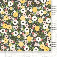 Papier imprimé Spring Fling CHALKBOARD FLORAL