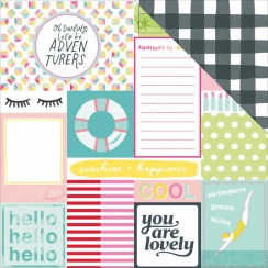 PROMO de -30% sur Papier imprimé Dear Lizzy Happy Place TOP NOTCH American Crafts