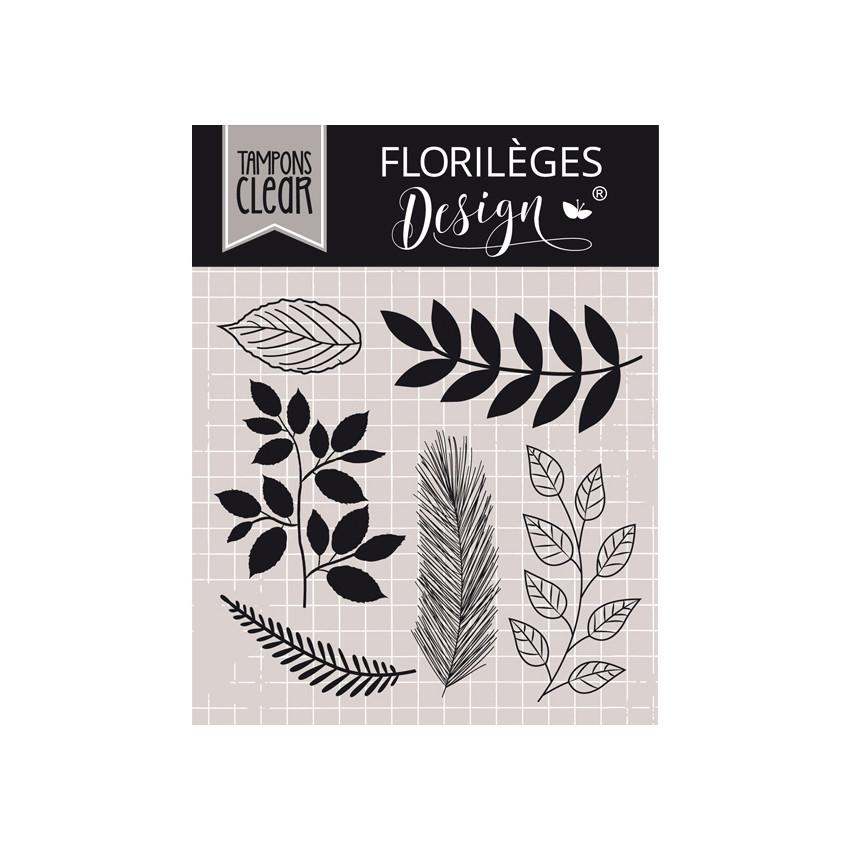 PROMO de -25% sur Tampons clear MIX DE FEUILLAGES Florilèges Design