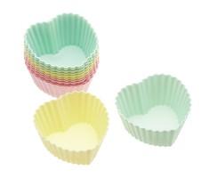 PROMO de -80% sur Caissettes à cupcakes silicone coeurs 7 cmOK Kitchen Crafts