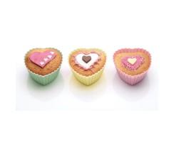 PROMO de -60% sur Caissettes à cupcakes silicone coeurs 7 cm