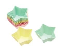 PROMO de -60% sur Caissettes à cupcakes silicone étoiles 7cm