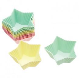 Commandez Caissettes à cupcakes silicone étoiles 7cm . Livraison rapide et cadeau dans chaque commande.