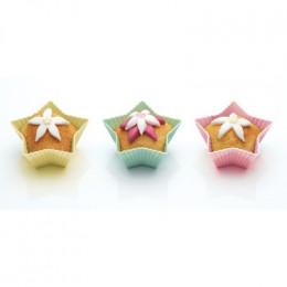 PROMO de -70% sur Caissettes à cupcakes silicone étoiles 7cmOK Kitchen Crafts