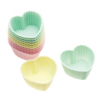 Caissettes silicone coeurs 3,5 cm