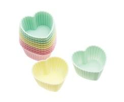 PROMO de -50% sur Caissettes silicone coeurs 3,5 cm Kitchen Crafts