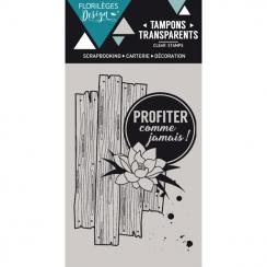 Tampon clear COMME JAMAIS - Capsule Juillet par Florilèges Design. Scrapbooking et loisirs créatifs. Livraison rapide et cade...
