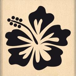 Tampon bois HIBISCUS par Florilèges Design. Scrapbooking et loisirs créatifs. Livraison rapide et cadeau dans chaque commande.
