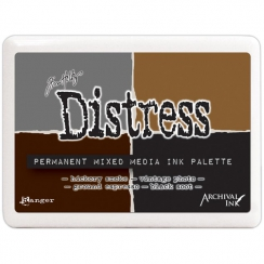Encre Distress Permanent Mixed Media Ink Palette