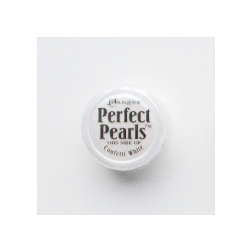 Poudre Perfect Pearl CONFETTI WHITE par Ranger. Scrapbooking et loisirs créatifs. Livraison rapide et cadeau dans chaque comm...