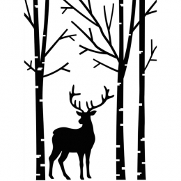 Plaque d'embossage DEER IN FORREST par Darice. Scrapbooking et loisirs créatifs. Livraison rapide et cadeau dans chaque comma...