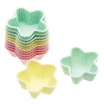 Caissettes silicone étoiles 3,5 cm