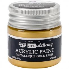 Peinture acrylique métallique Art Alchemy GOLD RUSH par Prima Marketing. Scrapbooking et loisirs créatifs. Livraison rapide e...