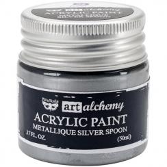 Peinture acrylique métallique Art Alchemy SILVER SPOON par Prima Marketing. Scrapbooking et loisirs créatifs. Livraison rapid...