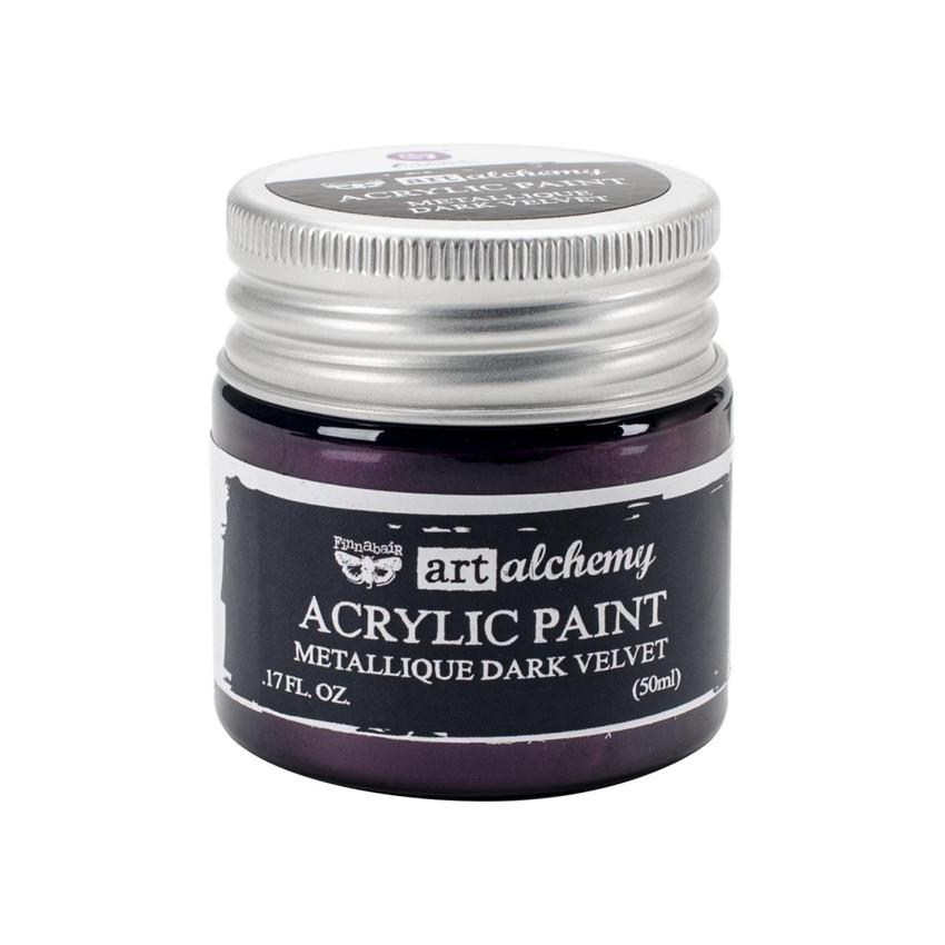 Peinture acrylique Finnabair métallique DARK VELVET par Prima Marketing. Scrapbooking et loisirs créatifs. Livraison rapide e...